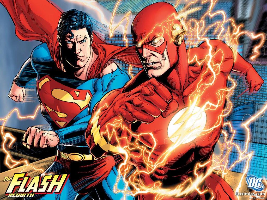Comics Wallpaper: The Flash and Superman