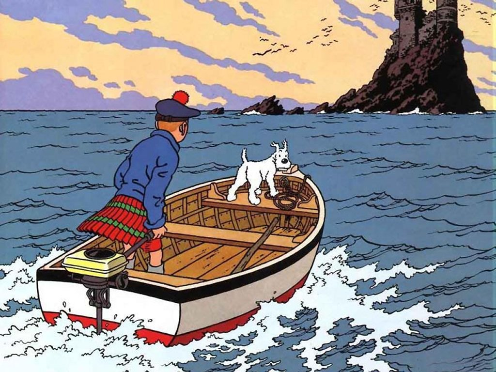 Comics Wallpaper: Tintin - The Black Island