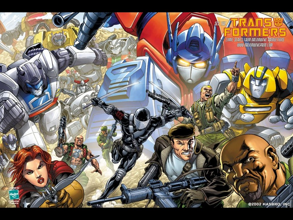 Comics Wallpaper: Transformers and GI Joe