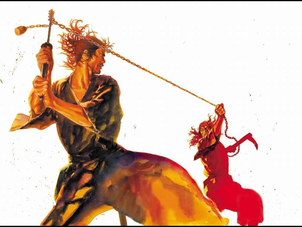 Comics Wallpaper: Vagabond - Musashi vs Baiken