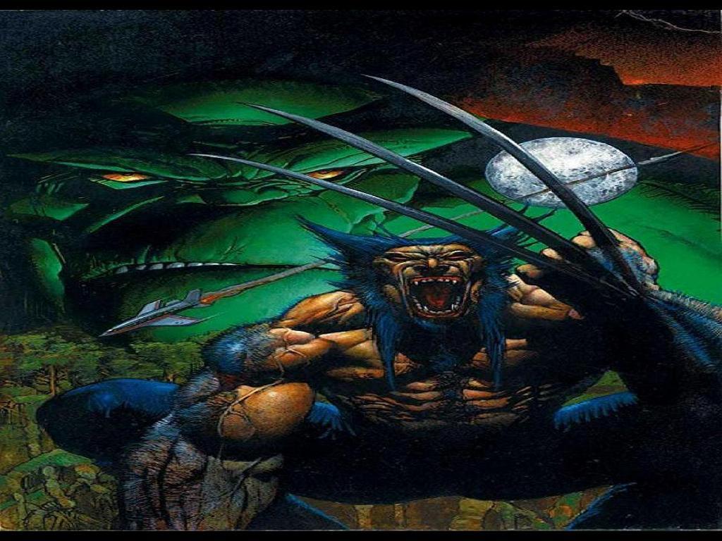 Comics Wallpaper: Wolverine and Hulk