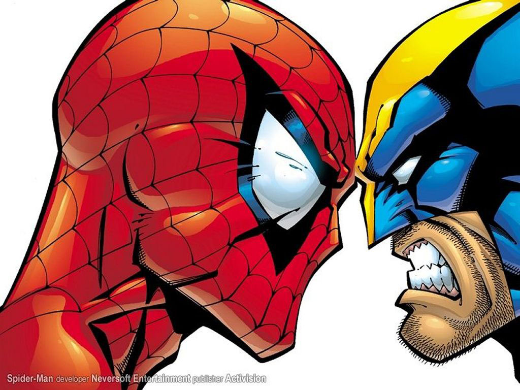 Comics Wallpaper: Wolverine and Spidey