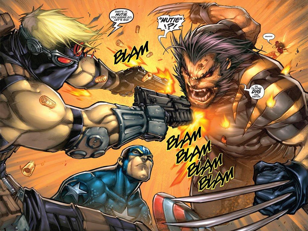 Comics Wallpaper: Wolverine vs Hawkeye