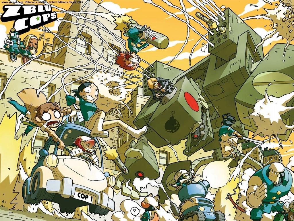 Comics Wallpaper: ZBLU Cops