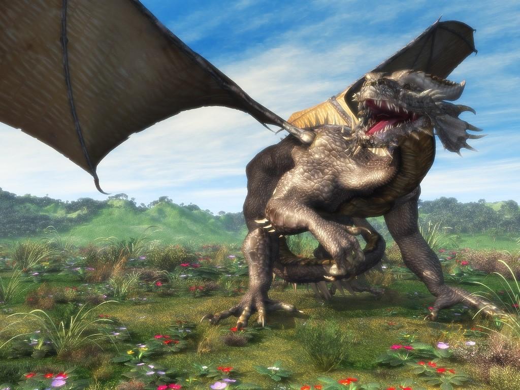 Fantasy Wallpaper: 3D Dragon