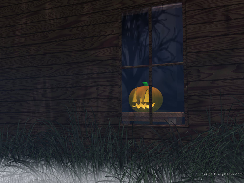 Fantasy Wallpaper: 3D Pumpkin (by Digital Blasphemy)