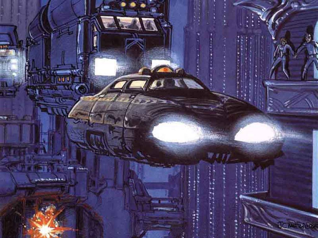 Fantasy Wallpaper: 5th Element - Hover Car