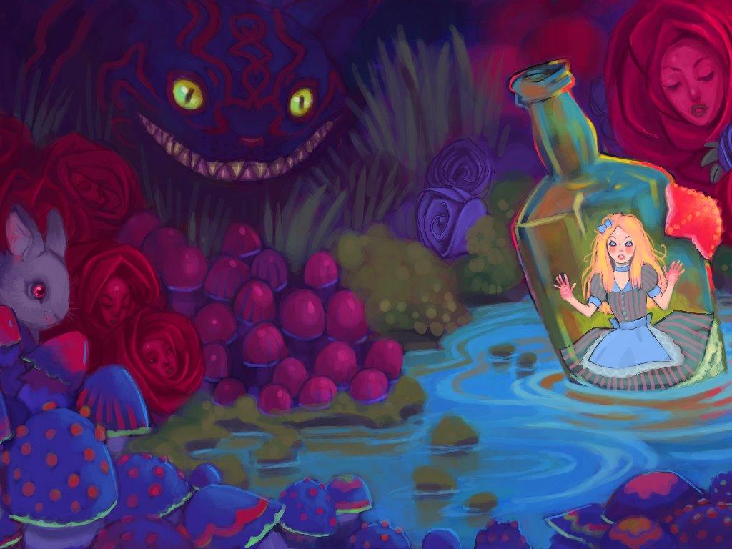 Fantasy Wallpaper: Alice in Wonderland (by Ulafish)
