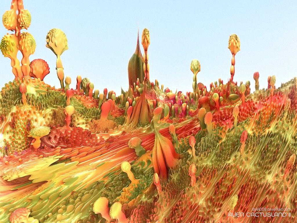 Fantasy Wallpaper: Alien Cactus