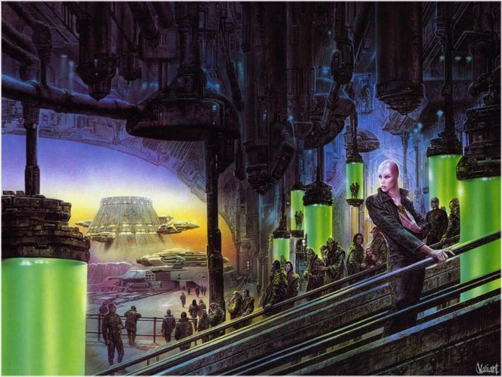Papel de Parede Gratuito de Fantasia : Cidade Alienígena