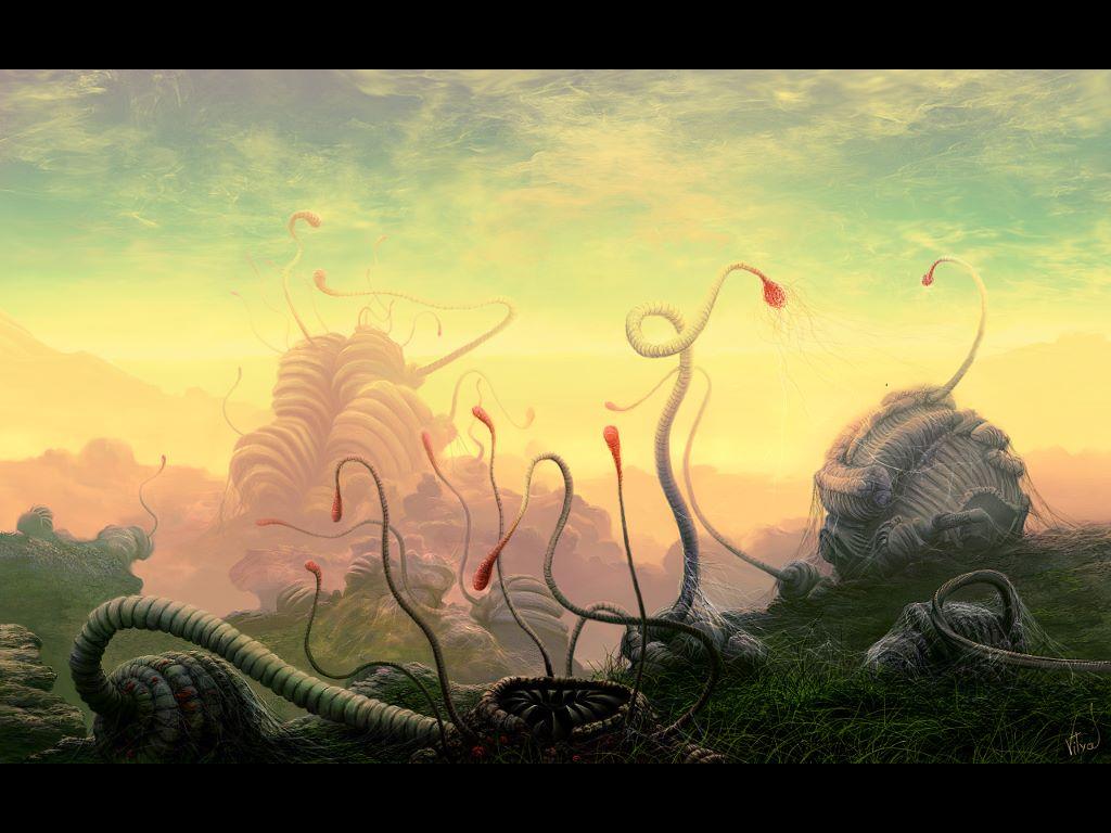 Fantasy Wallpaper: Alien Flora