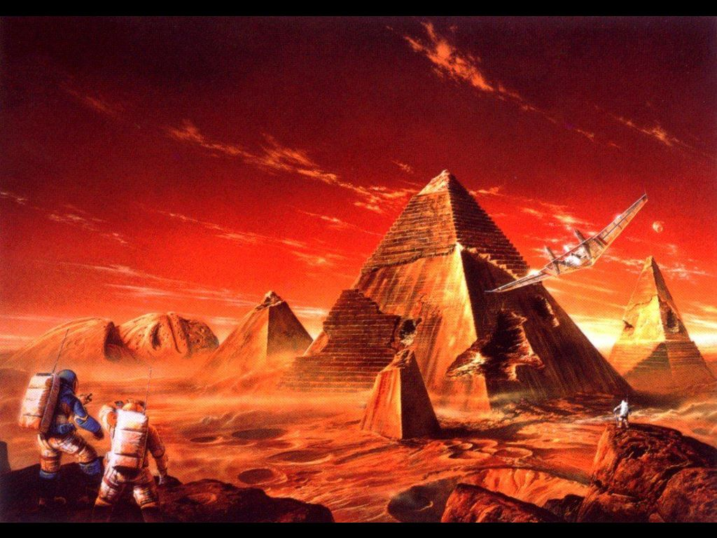 Fantasy Wallpaper: Alien Pyramids