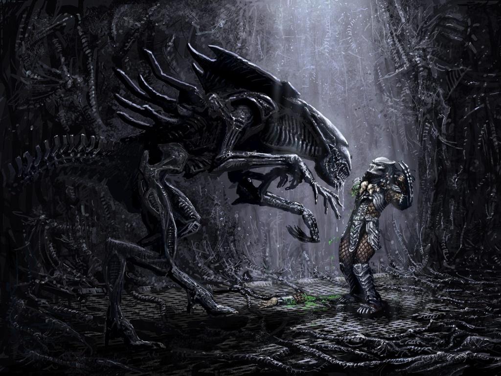 Fantasy Wallpaper: Alien Queen vs Predator