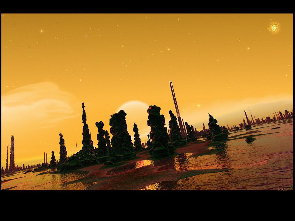 Fantasy Wallpaper: Alien Stonehenge