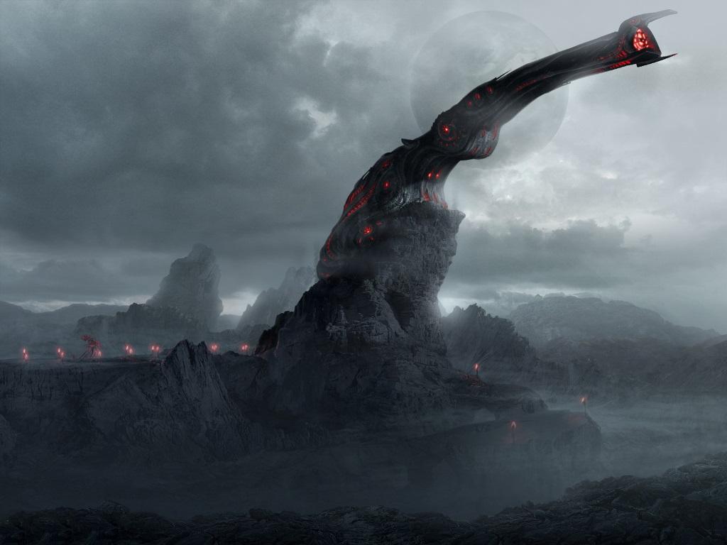 Fantasy Wallpaper: Alien Tower