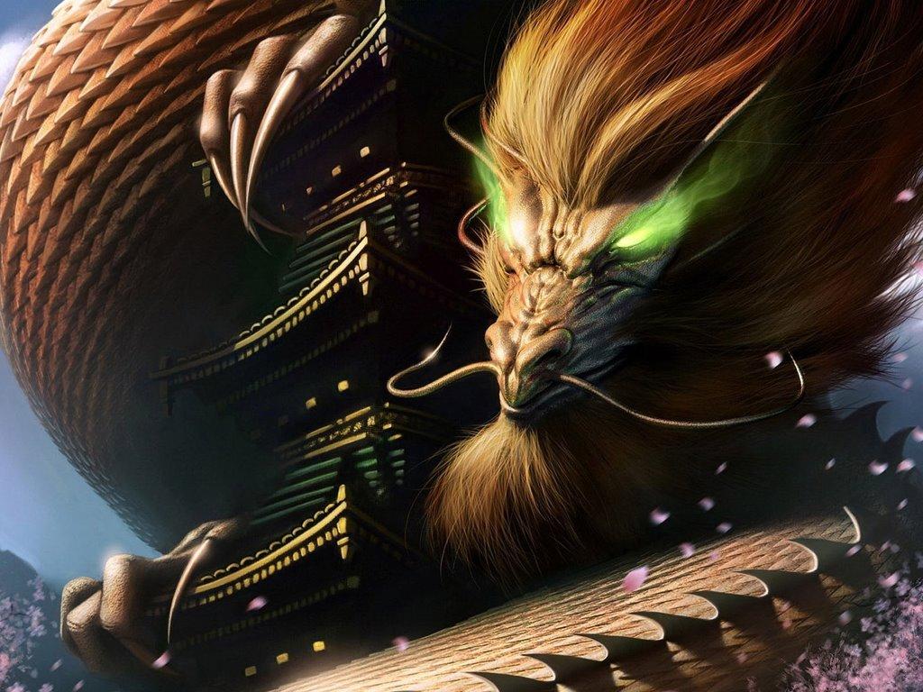 Fantasy Wallpaper: Ancient Chinese Dragon
