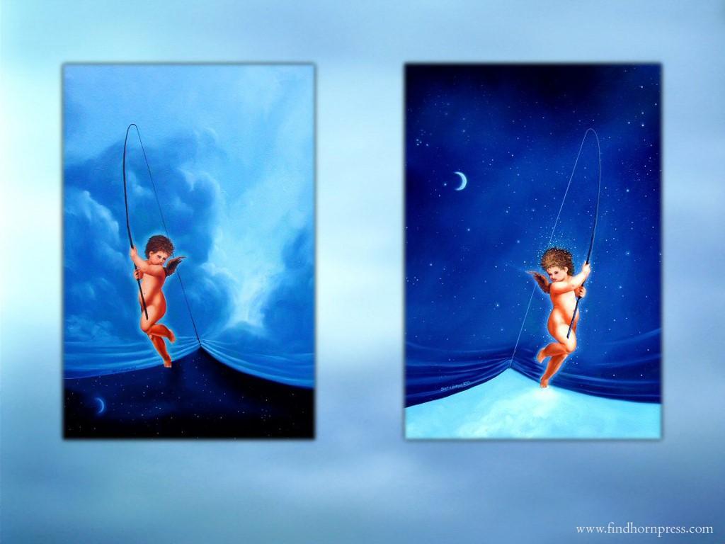 Fantasy Wallpaper: Angels - Fishing Sky