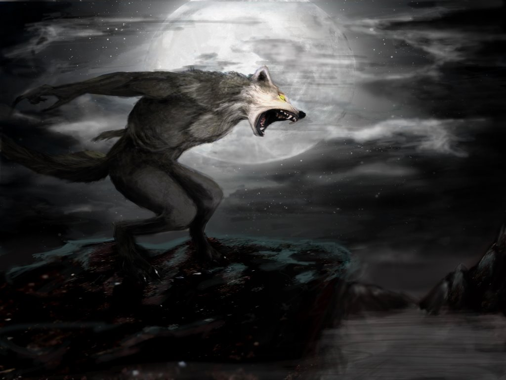 Fantasy Wallpaper: Angry Werewolf