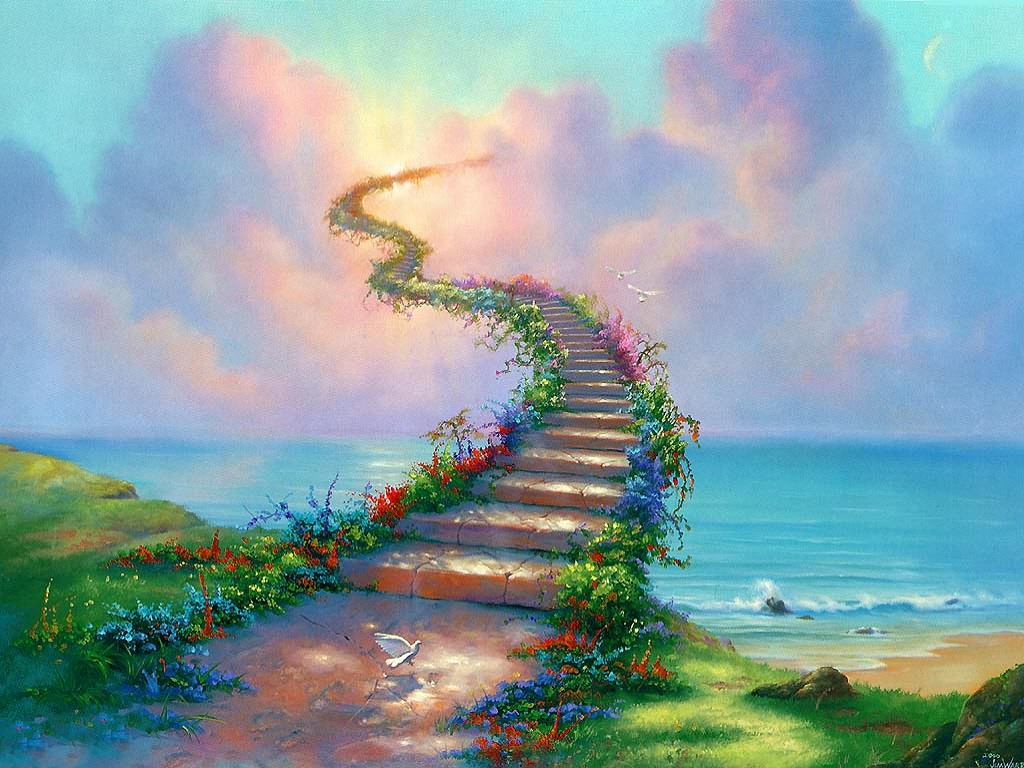 Fantasy Wallpaper: Another Stairway to Heaven