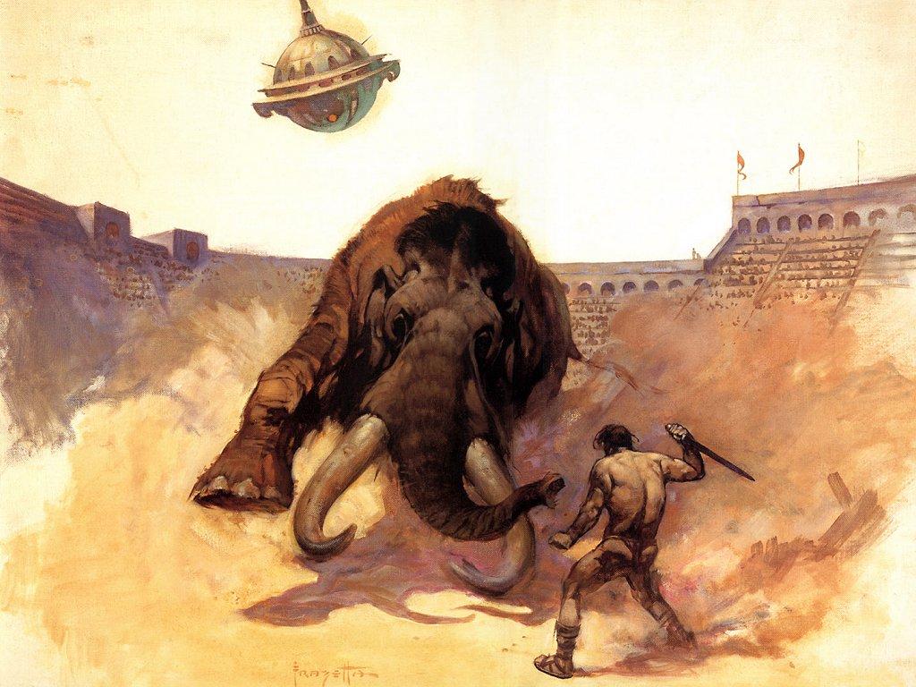 Fantasy Wallpaper: Arena - Mastodon