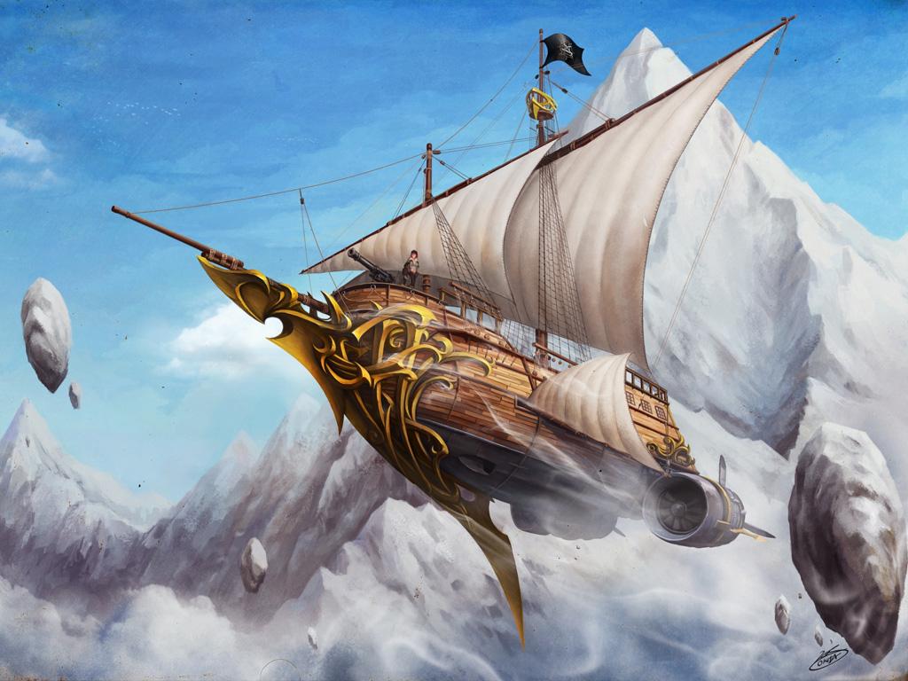 Fantasy Wallpaper: Athena Sky