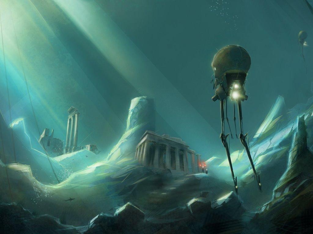 Fantasy Wallpaper: Atlantis Discovered