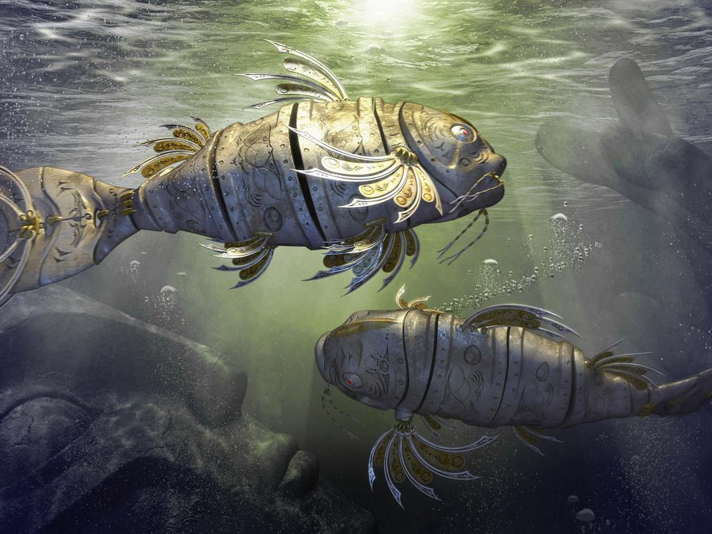 Fantasy Wallpaper: Atlantis - Mechanical Fish