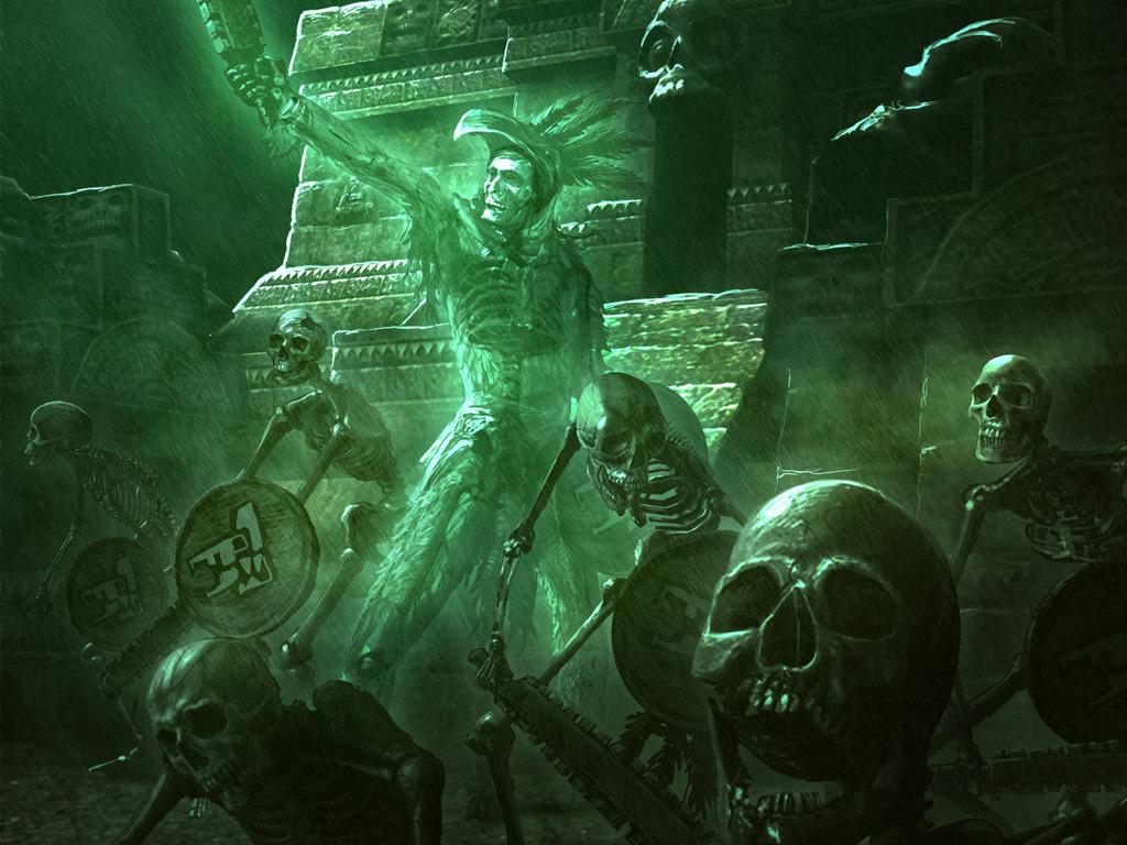 Fantasy Wallpaper: Aztec Horror