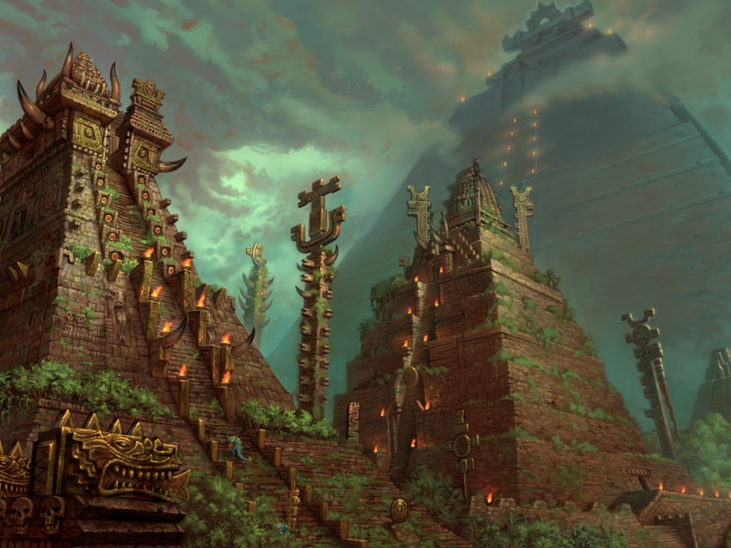 Fantasy Wallpaper: Aztek - Lizard Men