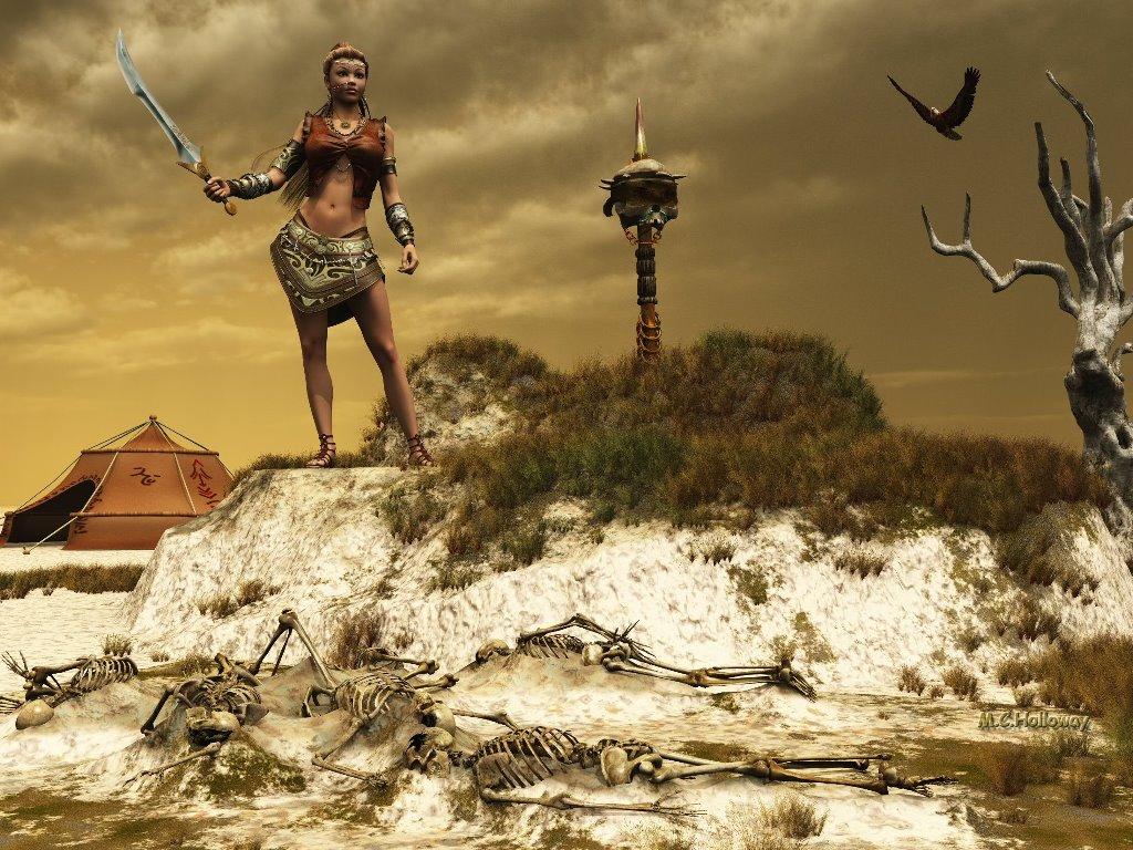 Fantasy Wallpaper: Badlands (by M.C. Holloway)