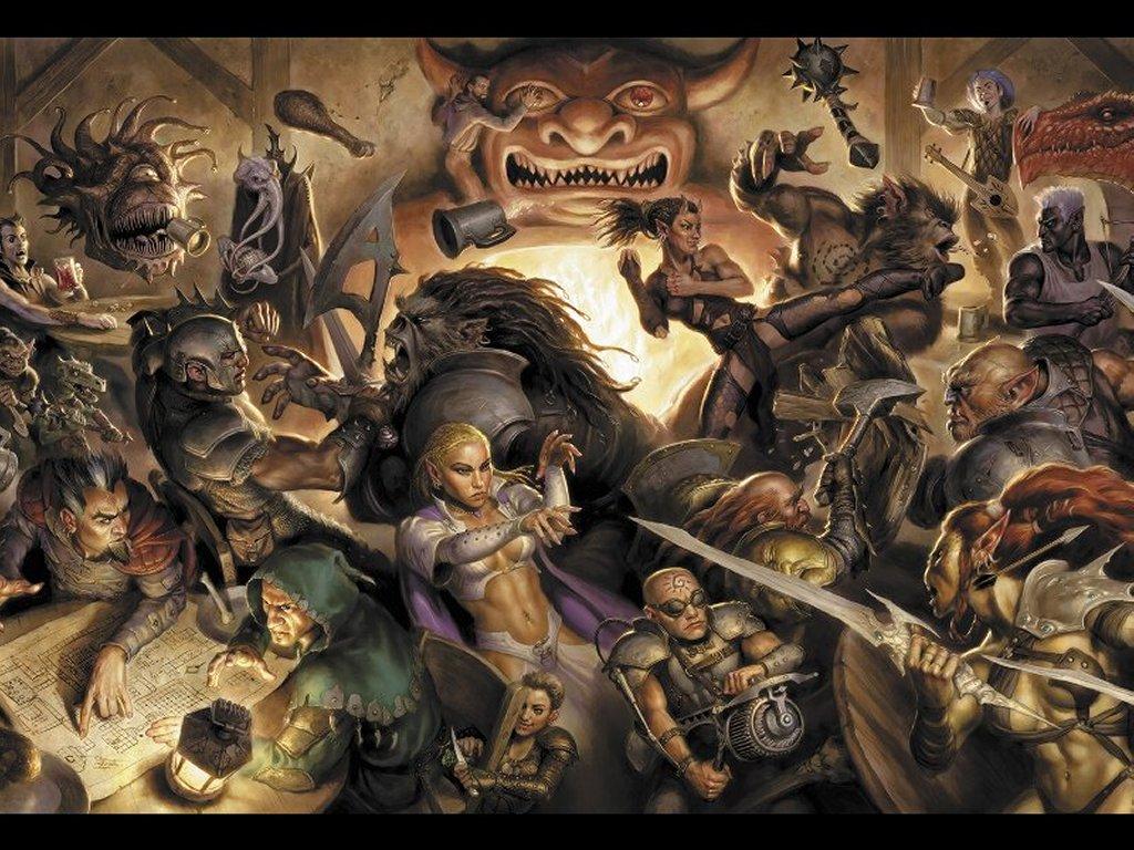 Fantasy Wallpaper: Bar Fight