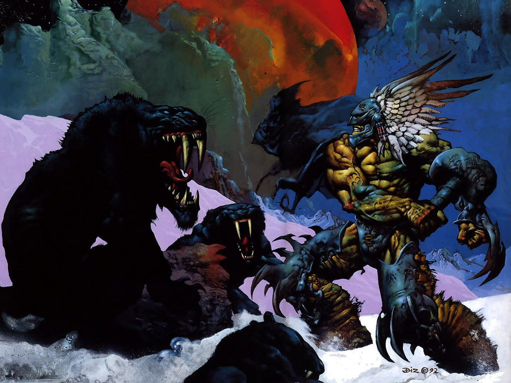 Fantasy Wallpaper: Barbarian (by Simon Bisley)