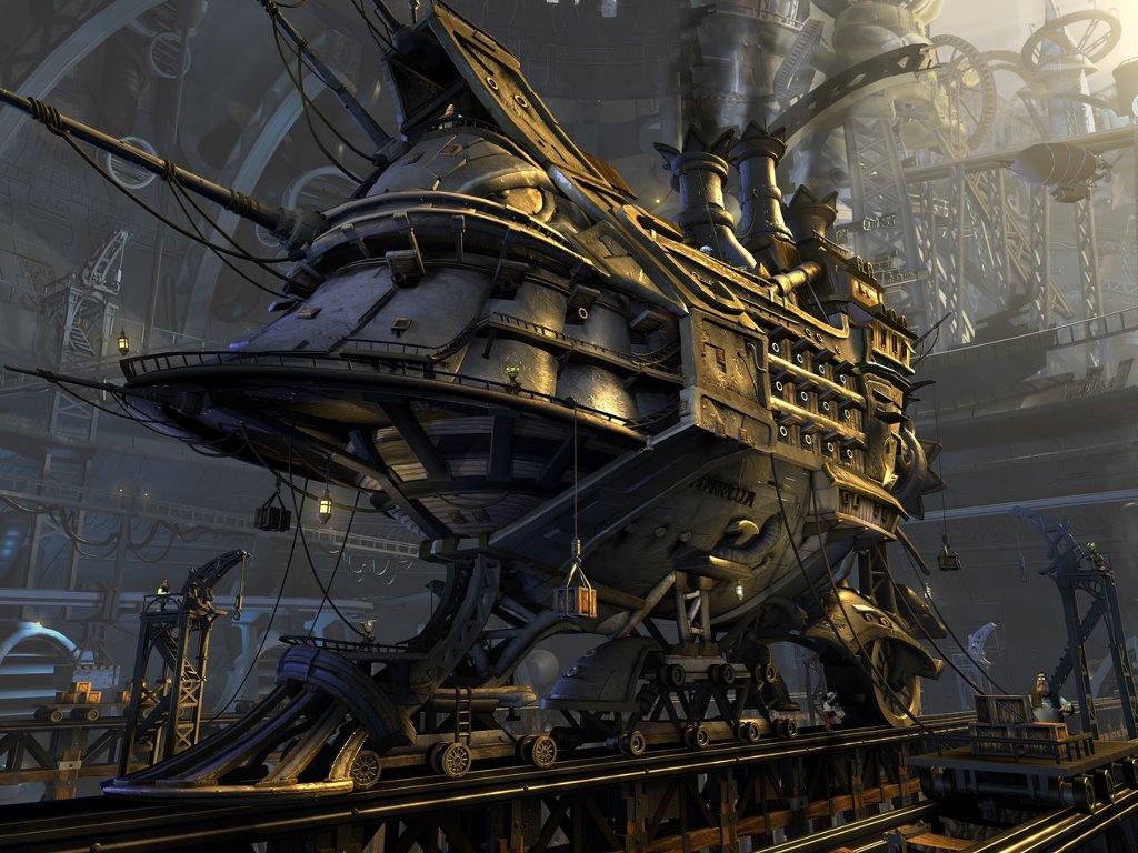 Fantasy Wallpaper: Barracuda Spaceship