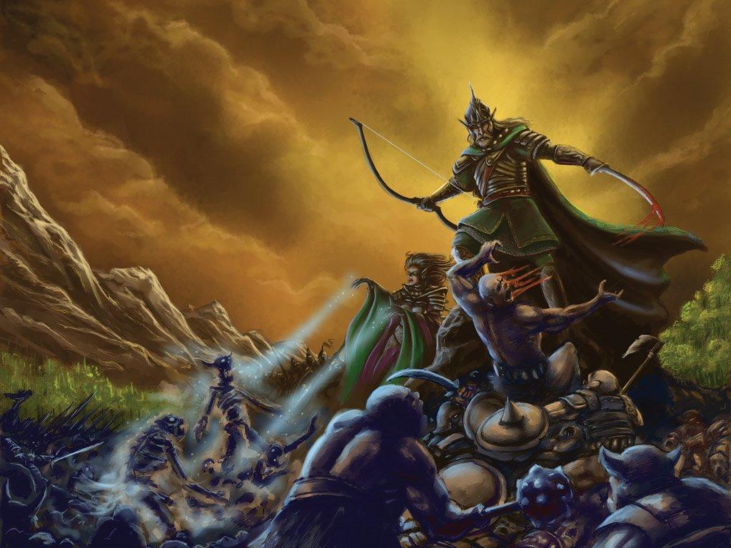 Fantasy Wallpaper: Beasts and Beings - Elf King