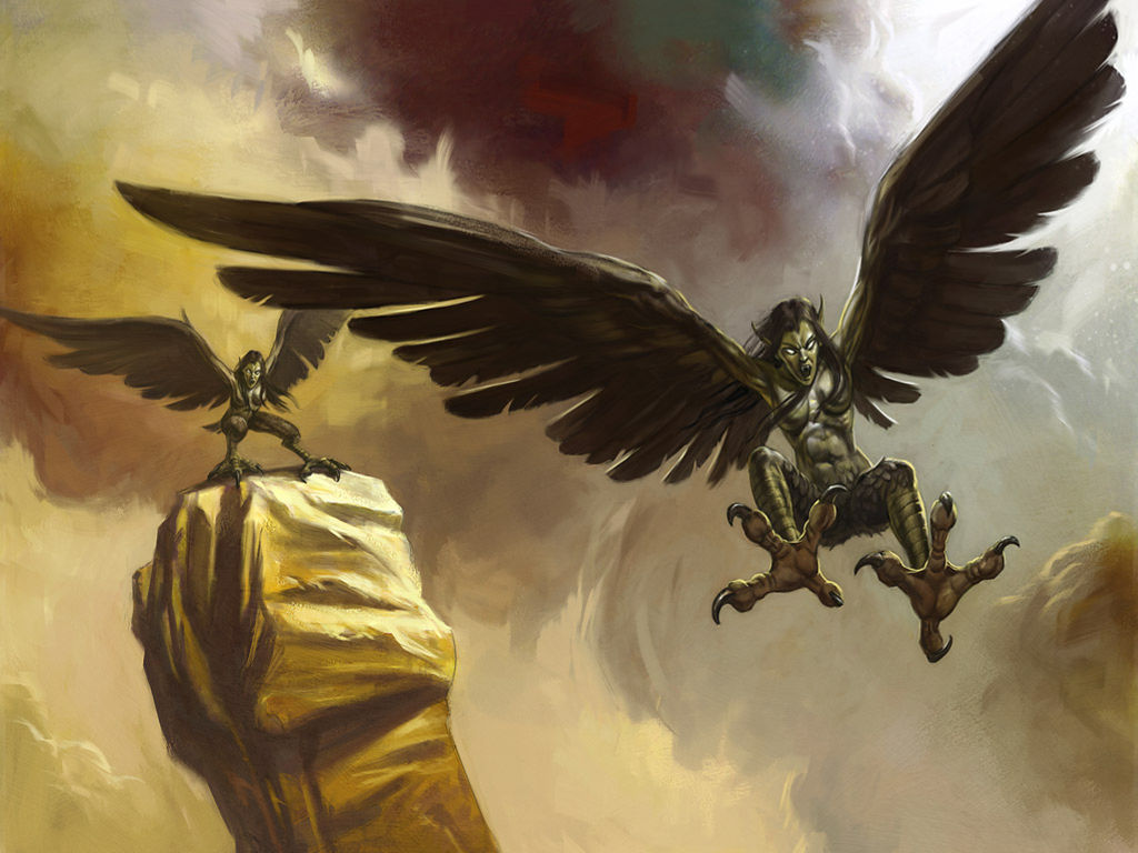 Fantasy Wallpaper: Beasts and Beings - Harpy
