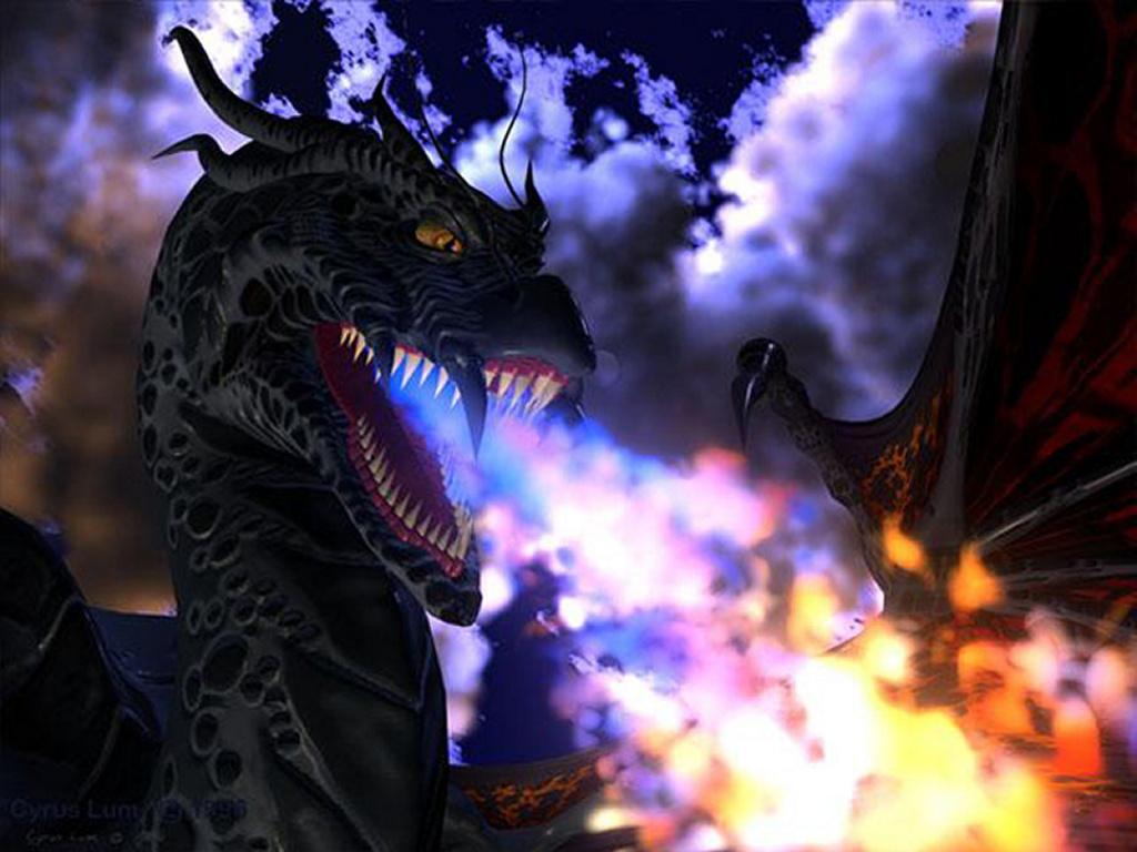 Fantasy Wallpaper: Black Dragon