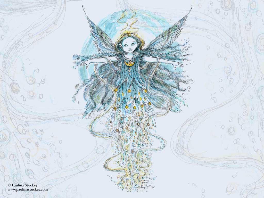 Fantasy Wallpaper: Blue Faerie