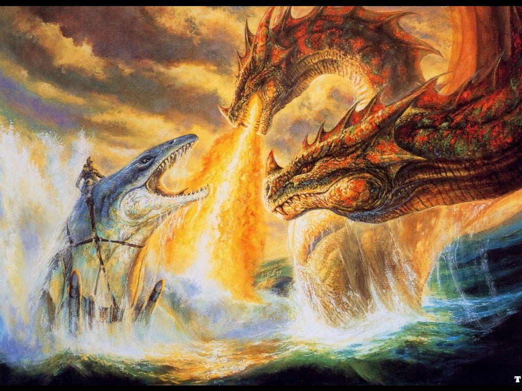 Fantasy Wallpaper: Bob Eggleton - Darkness Descendig