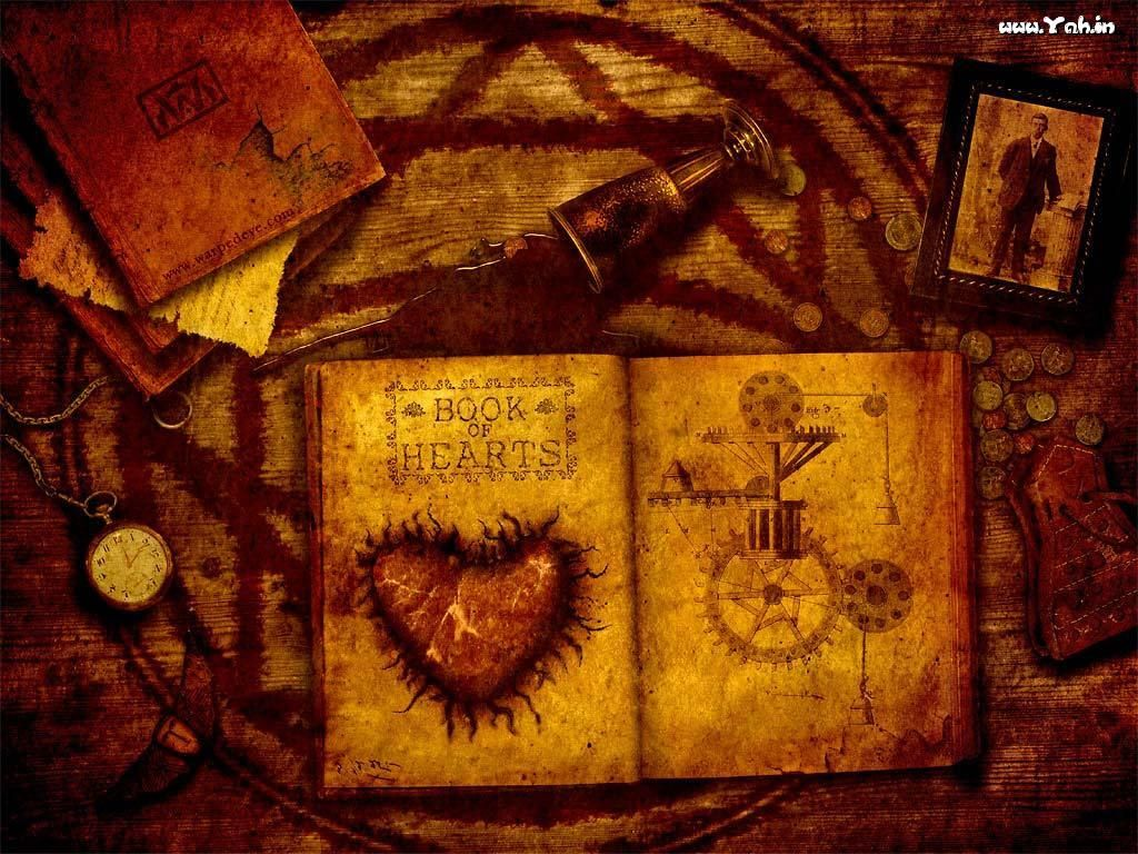 Fantasy Wallpaper: Book of Hearts