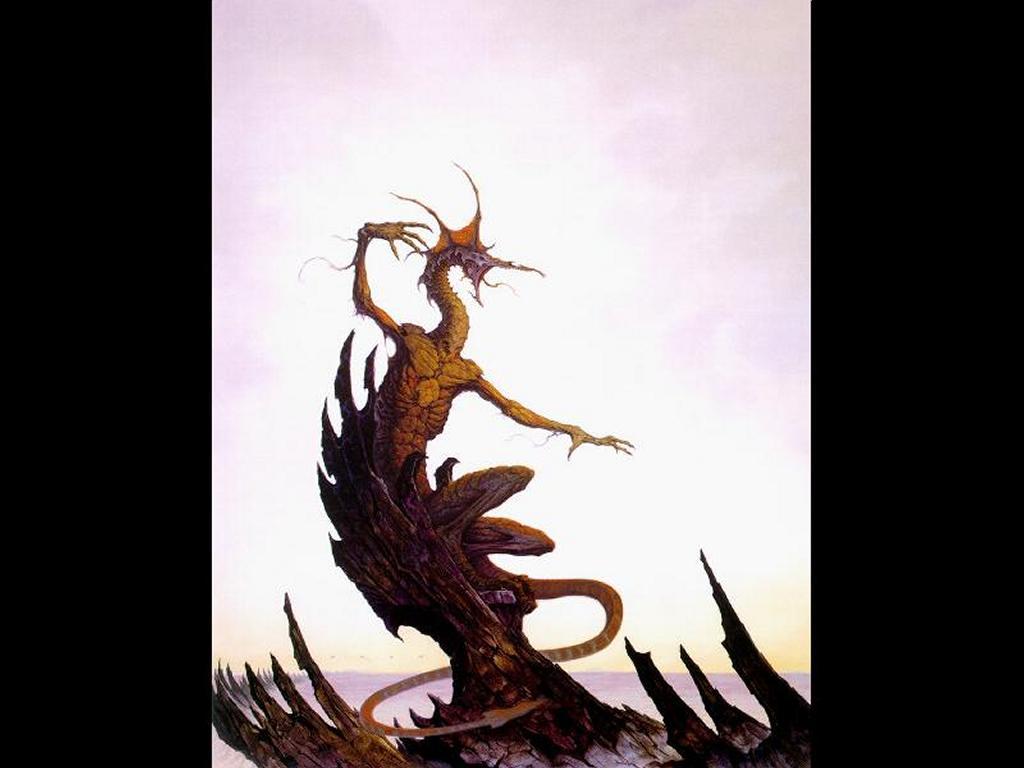 Fantasy Wallpaper: Brom - Boris, the Dragon