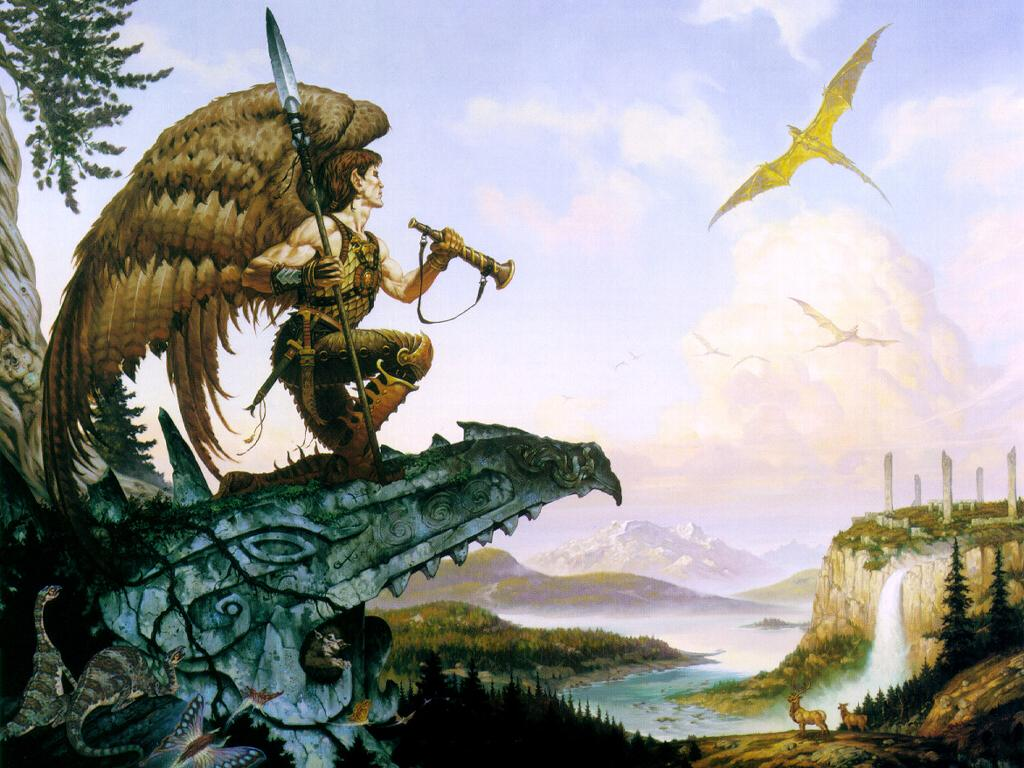 Fantasy Wallpaper: Brom - Hawkman