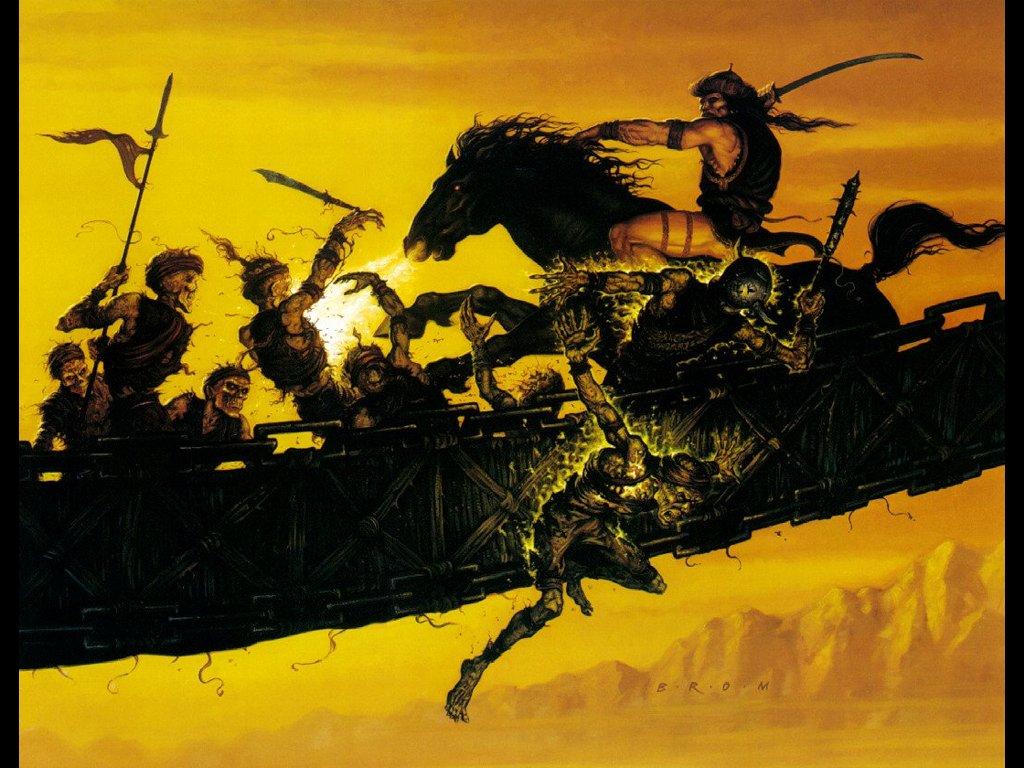 Fantasy Wallpaper: Brom - Undead Assault