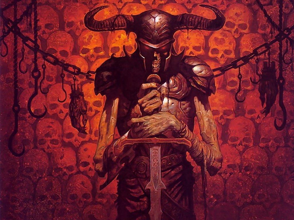 Fantasy Wallpaper: Brom - Vigil of Bones