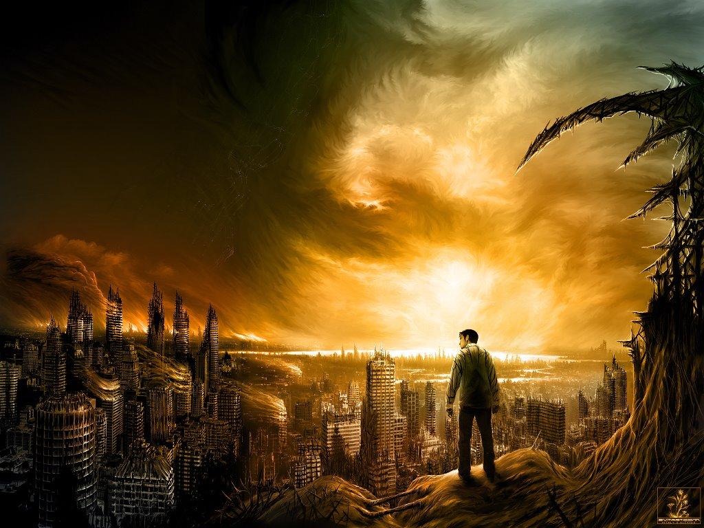 Fantasy Wallpaper: Burning Cities