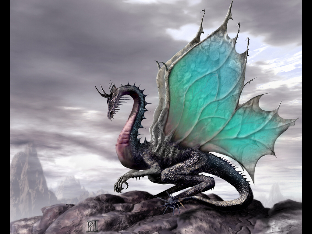 Fantasy Wallpaper: Butterfly Dragon