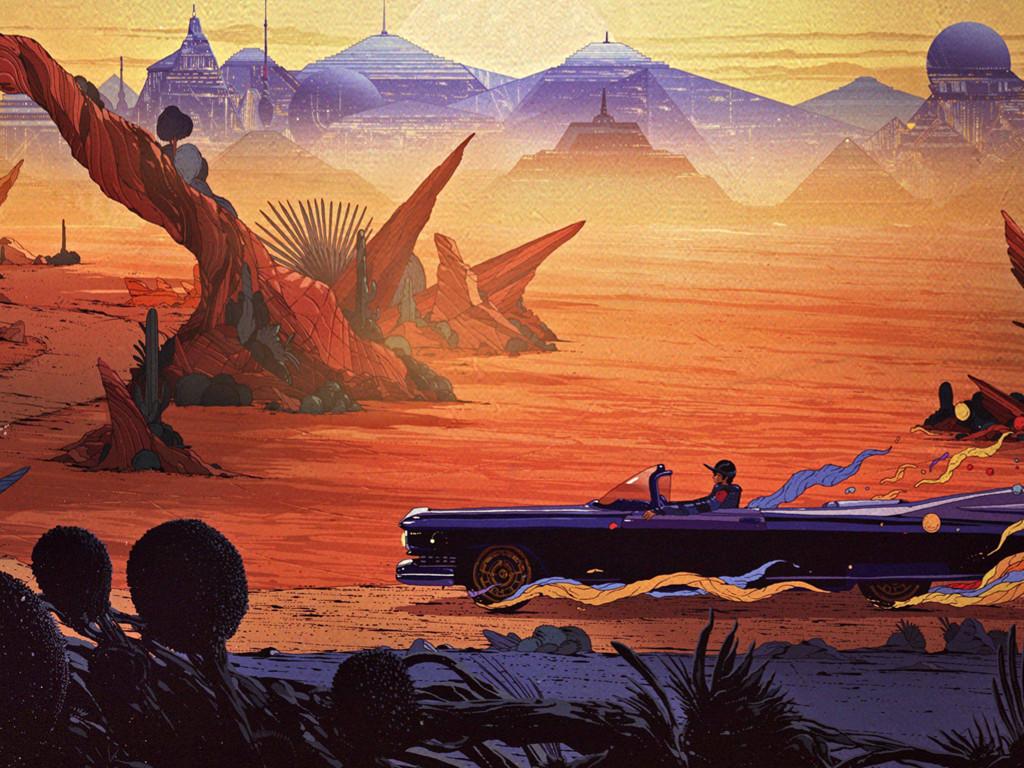Fantasy Wallpaper: Cadillac - Wasteland