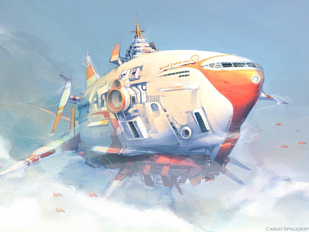 Fantasy Wallpaper: Cargo Spaceship