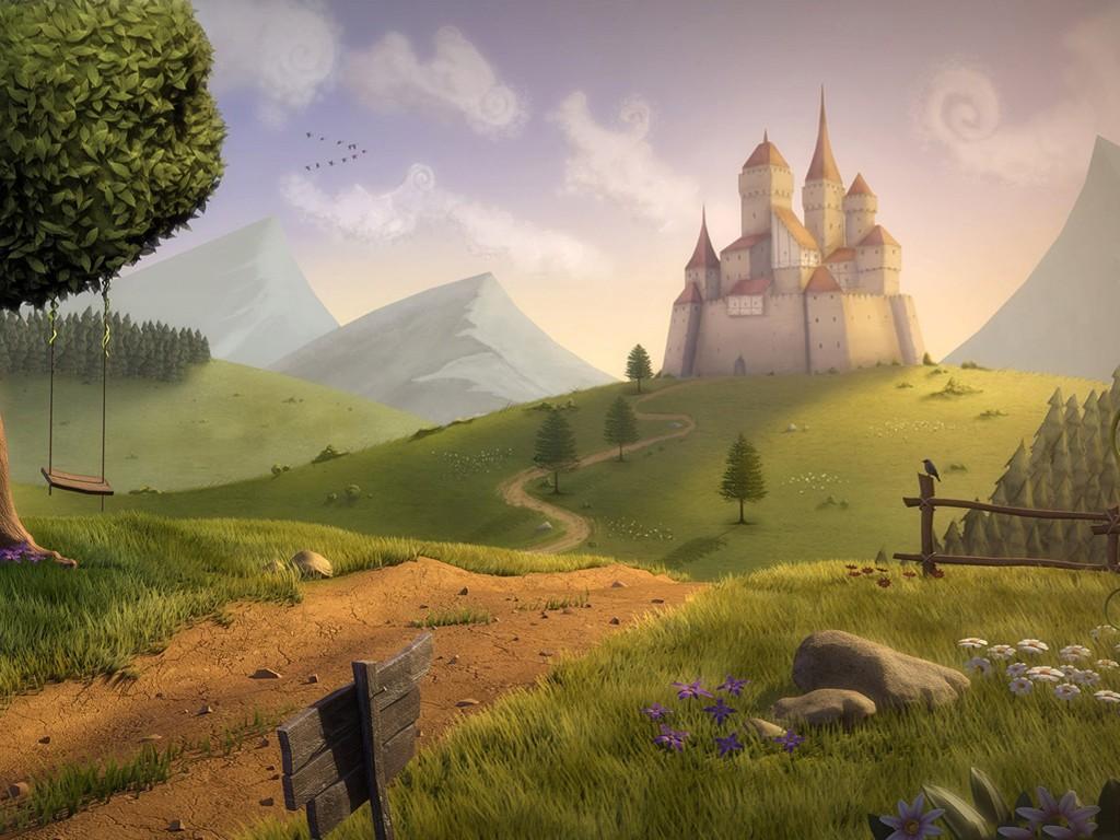 Fantasy Wallpaper: Castle on the Hill