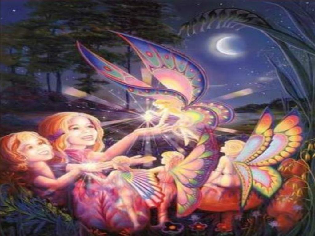 Fantasy Wallpaper: Children and Fairy