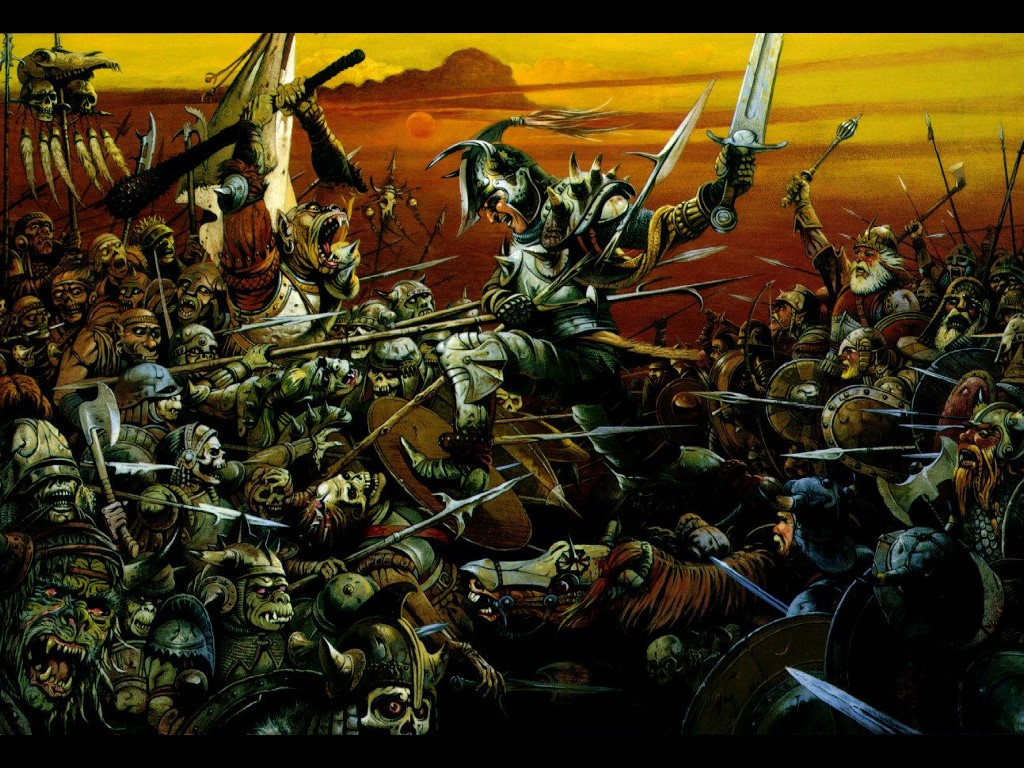 Fantasy Wallpaper: Chris Achilleos - Clash